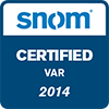 snom certified partner logo